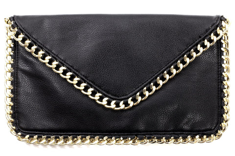 Chain Bordered Envelope Purse