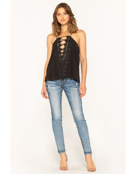 Reversible Lace Up Cami