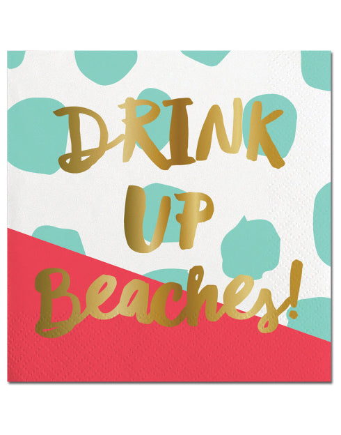 Drink Up Beaches Napkins