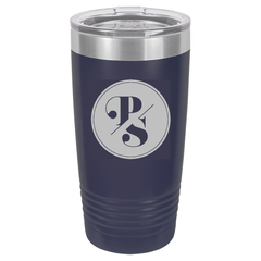 PS Logo engraved Navy 20 oz. Polar Camel Tumbler