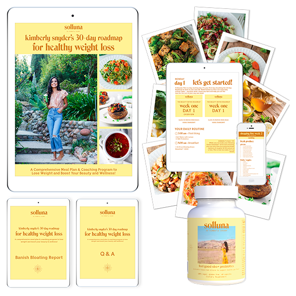 Kimberly Snyder's 30 Day Roadmap for Healthy Weight Loss Course Plus SBO Probiotics