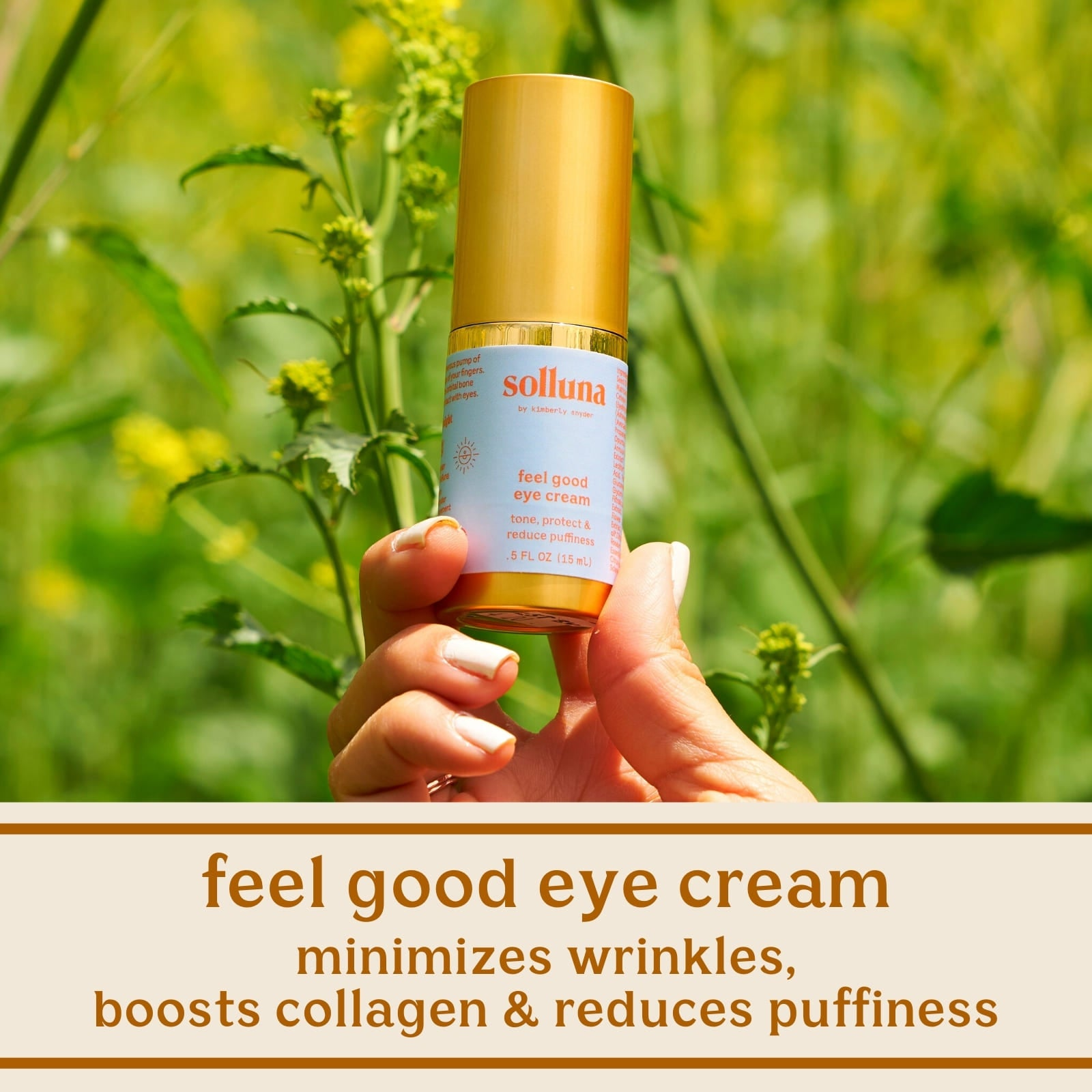 Solluna's Feel Good Eye Cream Minimizes Wrinkles, Boosts Collagen & Reduces Puffiness
