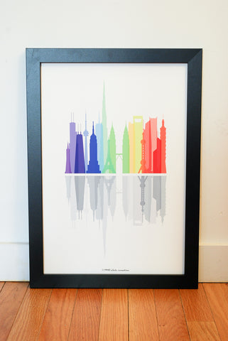Tallawah Collective - International Skyline, World Skyscrapers Art Print
