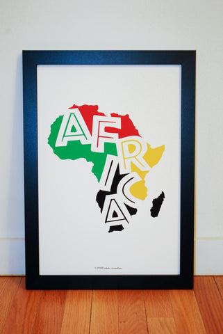 Tallawah Collective - Africa Multicolor Art Print