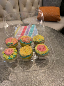 Frosted White Cupcakes - 12 Pack (Produced by Three Lil' Bakesters Home Kitchen) - Available in SE Wisconsin Only*