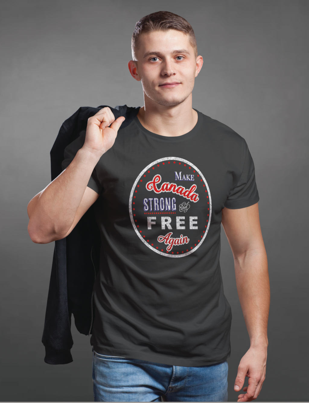 "Men's T-Shirt ""Make Canada Strong and Free Again"""