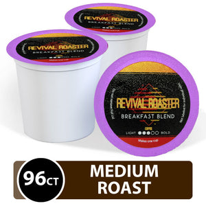 Revival Roaster Breakfast Blend K Cups 96 Count