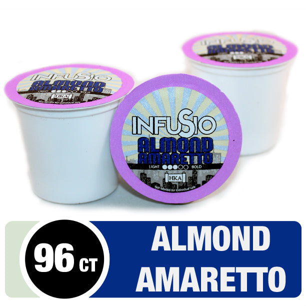 InfuSio Almond Amaretto K Cups 96 Count Flavored Coffee Pods