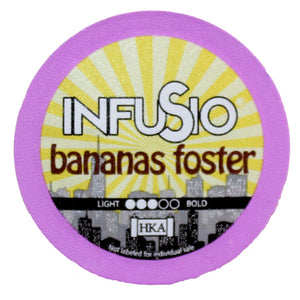InfuSio Bananas Foster K Cups 96 Count Flavored Coffee Pods