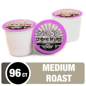 InfuSio Crème Brûlée K Cups 96 Count Flavored Coffee Pods