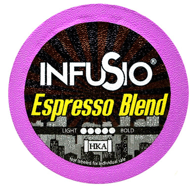 InfuSio Espresso Blend K Cups 96 Count Flavored Coffee Pods