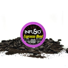 Load image into Gallery viewer, InfuSio Espresso Blend K Cups 96 Count Flavored Coffee Pods