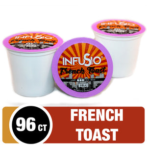 InfuSio French Toast K Cups 96 Count Flavored Coffee Pods