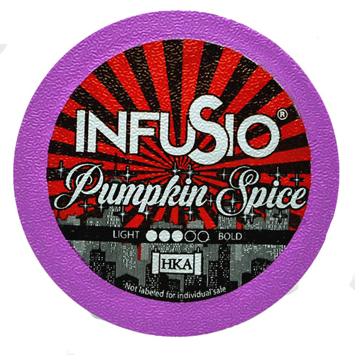 InfuSio Pumpkin Spice K Cups 96 Count Flavored Coffee Pods
