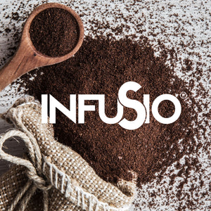 InfuSio Gourmet Ground Coffee, (64oz) Variety Pack, Eight 8oz Bags (Pack of 8) - 4lbs Total - With Flavored Blends - Bagged Coffee