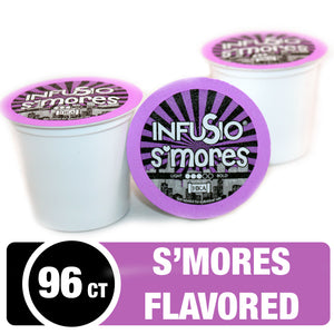 InfuSio S'mores K Cups 96 Count Flavored Coffee Pods
