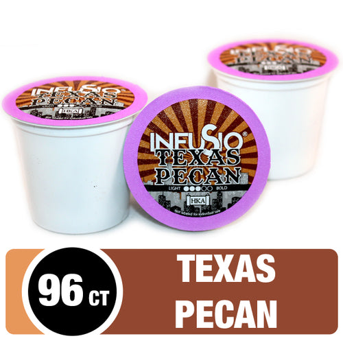 InfuSio Texas Pecan K Cups 96 Count Flavored Coffee Pods