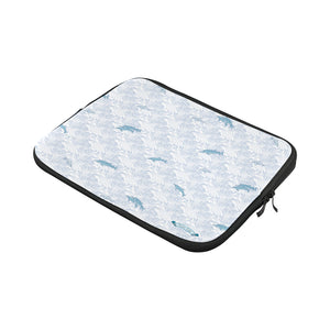 Dolphins on Waves Custom Laptop Sleeve 13""