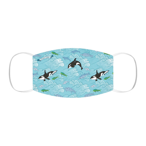 Dolphins and Orcas Snug-Fit Polyester Face Mask