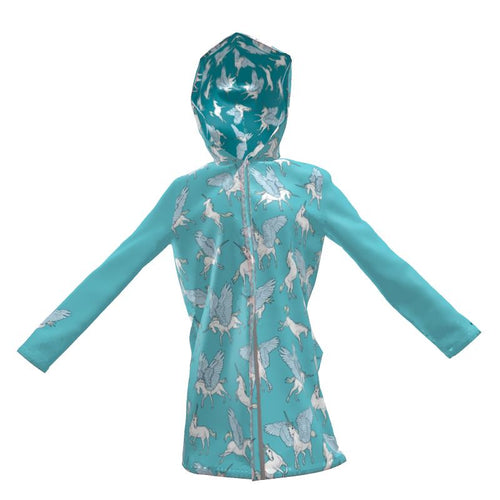 Unicorns and Alicorns Rain Jacket