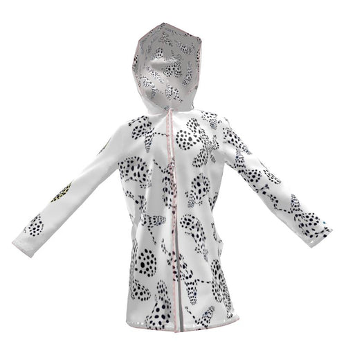 Pale Spotted Fish Rain Jacket