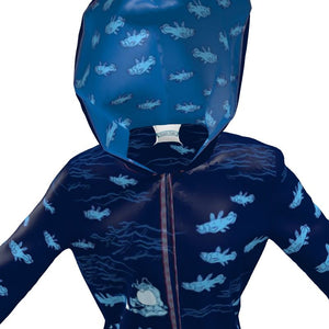 Coelacanthus and Submarines Rain Jacket