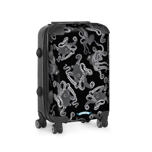 Octopus in Black and White Luggage