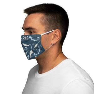 Narwhals Snug-Fit Polyester Face Mask