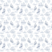 Load image into Gallery viewer, Beluga Narwhal Ships Kids Swimsuit 2T-7