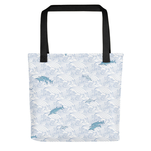 Dolphins on Waves Tote bag