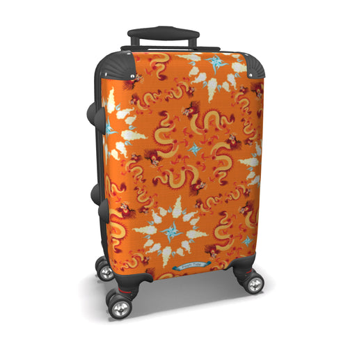 Dragons on Orange Luggage