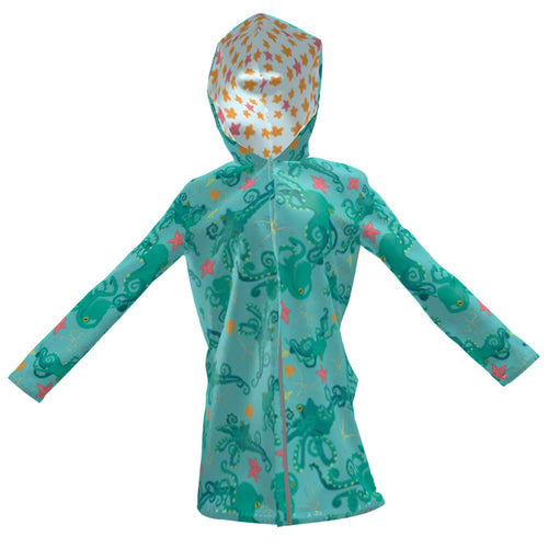 Octopus Chevrons Rain Jacket