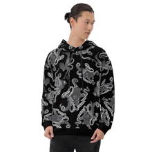 Load image into Gallery viewer, Octopus in Black and White Unisex Hoodie
