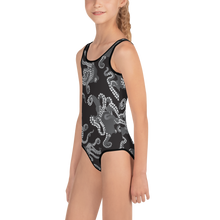 Load image into Gallery viewer, Octopus B&W Kids Swimsuit 2T-7