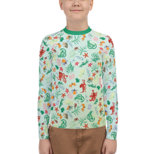 Load image into Gallery viewer, Tide Pool Youth Rash Guard