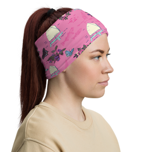 Sailboats on Pink Neck Gaiter