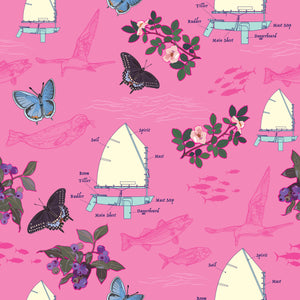 Sailboats on Pink Neck Gaitor
