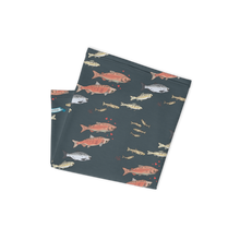 Load image into Gallery viewer, Salmon on Dark Gray Neck Gaitor