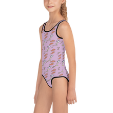 Load image into Gallery viewer, Salmon on Pink Kids Swimsuit 2T-7