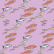 Load image into Gallery viewer, Salmon on Pink Youth Rash Guard