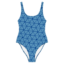Load image into Gallery viewer, Geometric Fish One-Piece Swimsuit