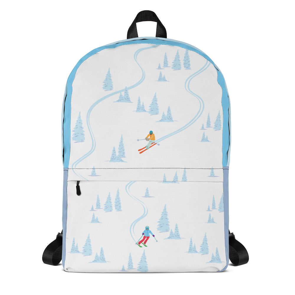 Skiing Through Trees Backpack