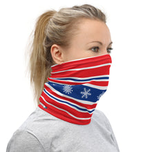 Load image into Gallery viewer, Ski Red White and Blue Neck Gaiter