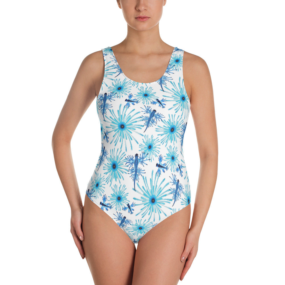 Blue Dragon One-Piece Swimsuit