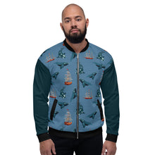 Load image into Gallery viewer, Whales - Right Whales Unisex Bomber Jacket