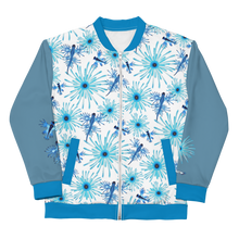 Load image into Gallery viewer, Blue Dragon Unisex Bomber Jacket