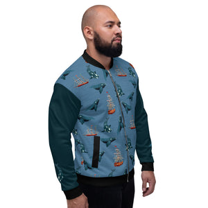Whales - Right Whales Unisex Bomber Jacket
