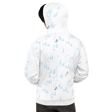 Load image into Gallery viewer, Skiing Through Trees Unisex Hoodie