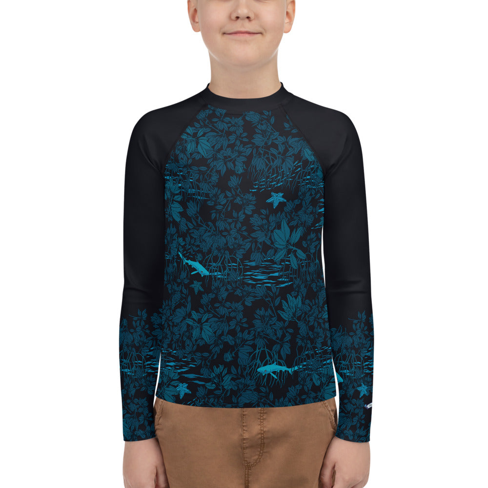 Mangroves at Night Youth Rash Guard