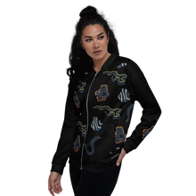 Load image into Gallery viewer, Dark Fish Unisex Bomber Jacket